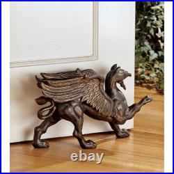Design Toscano The Growling Griffin Authentic Foundry Iron Doorstop Set of Two