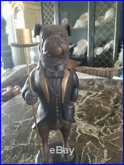 Dog Butler Candleholder Statues Doorstops bulldog candle
