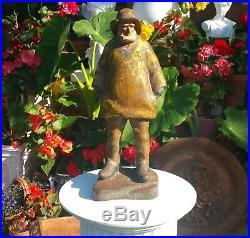 Doorstop antique cast iron nautical maine sailing whaling tallship vtg statue