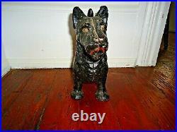 Early 20thC. Genuine Antique Hubley Scottish Scottie Terrier Cast Iron Doorstop