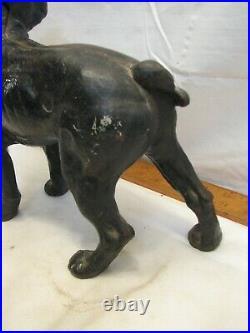 Early Cast Iron Boxer Dog Door Stop Boston Terrier Bull Figural Doorstop Hubley