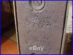 Edwardian 1912 Brass & Cast Iron Architectural Design Door Porter Stop