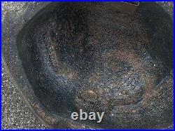 Estate Rare Virginia Metalcrafters Heavy Bull Frog Garden Art Door Stop Hide Key