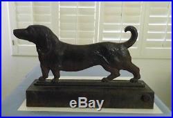 Ex Rareold Authentic Bradley & Hubbarddachshund Dog Cast Iron Doorstopbumpers