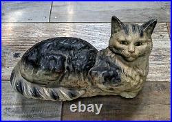Extra Large 13 L Cast Iron Cat Statue Doorstop
