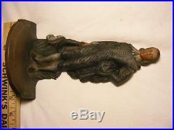 Fancy Gentleman Bradley & Hubbard 8 1/2 Tall x 5 Wide Cast Iron Doorstop