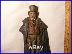 Fancy Gentleman Bradley & Hubbard Cast Iron Bookend or Doorstop excellent