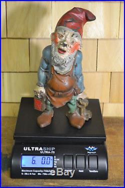 Gnome Doorstop Cast Iron Hubley