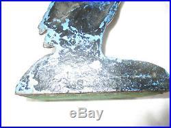 Gorgeous Antique Heron Cast Iron Door Stop Stamped