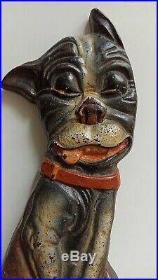Greenblatt Studio 1927 Whimsical Pup Boston Terrier Cast Iron Doorstop