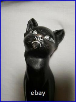 HUBLEY CAST IRON BLACK CAT DOORSTOP Vintage Free S&H