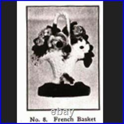 HUBLEY French Basket Design #8 Doorstop 1940 Cast Iron Flower