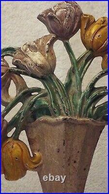 HUBLEY Tulip Vase Design #443 Vintage Door Stop