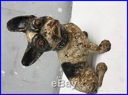 Hubley Boston Terrier Cast Iron Doorstop Sitting