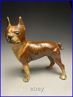 Hubley Brown & Cream Boston Bull Terrier Cast Iron Doorstop