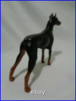 Hubley Cast Iron Doberman Pinscher Dog Doorstop Statue