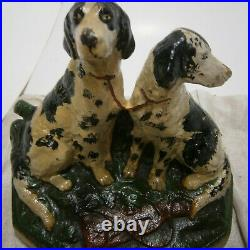 Hubley Cast Iron Door Stop/Book End #282 Hunting Dogs Setter/Pointer