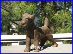 Hubley Cast Iron Fox Terrier Dog Doorstop 3.12lbs 7 Long 5.25H