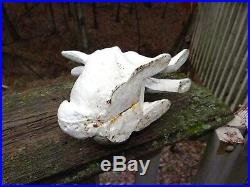 Hubley Cast Iron Rabbit Doorstop Large 11 1/2 Vtg Antique
