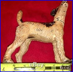 Hubley Cast Iron Wire Hair Fox Terrier Dog Door Stop