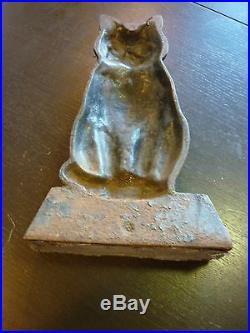 Hubley Cat / Cast Iron Cat Doorstop / Hubley Cast Iron Lancaster, Pa. Guard Cat