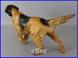 Hubley Doorstop Pointer Dog Setter Cast Iron Original Paint