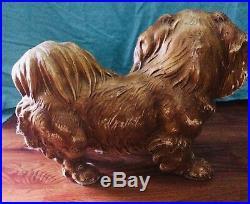 Hubley Toy Co. Antique Cast Iron Pekingese Rare Origional condition