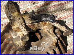 Hubley boston terrier doorstop rare left facing antique original cast iron