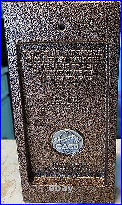 J I Case Eagle 150th Anniversary Cast Iron Doorstop Bookend Plaque Bronze Finish