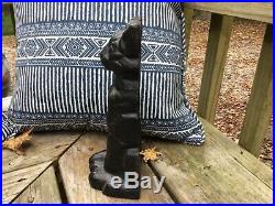 Large 9 3/8 Tall Vintage Cast Iron Figural Cat Door Stop 5lb 10oz Halloween