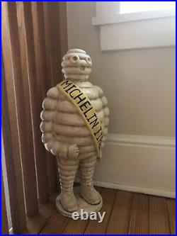 Large Michelin Man Cast Iron Advertising Door Stop Statue 22 Tall