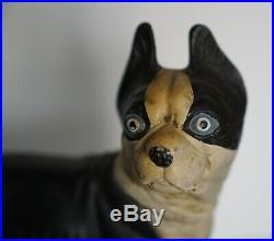 Lovely Estate Heavy Hubley Style Boston Terrier Dog Cast Iron Door Stop