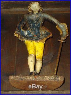 Marquise De Lafayette Cast Iron DoorStop -ANTIQUE historical soldier DOOR STOP