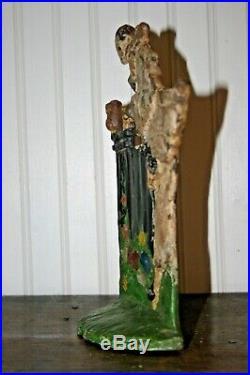 Mayfair Inc Harlequin Clown Original Antique Cast Iron Doorstop Rare Museum