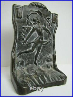 NUDE BEAUTY PIXIE FAIRY Antique Cast Iron Doorstop Bookend Decorative Art Statue