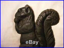 Nicely Detailed Squirrel Doorstop, Large size, cast iron, good condition