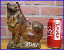 Old MALAMUTE Figural Dog Cast Iron Doorstop c1930 CREATION Co Door Stopper