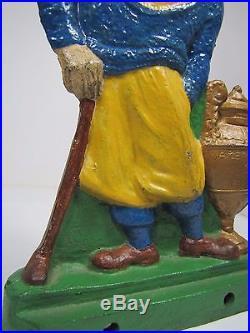 Orig 1930s Cast Iron Bobby Jones Golfer Studio Doorstop Decorative Art Statue