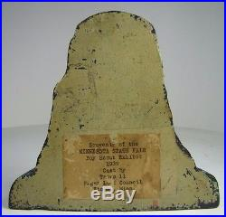 Orig 1939 SUGAR LOAF ROCK Winona Minnesota State Fair BSA Cast Iron Doorstop HTF