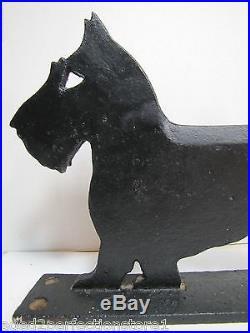 Orig Antique 1926 Cast Iron Scottie Dog Boot Scraper HP Norristown Pa doorstop