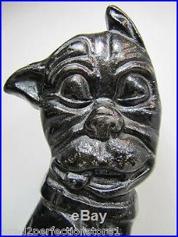 Original 1920s Greenblatt Studios Whimsical Pup Terrier Dog Cast Iron Doorstop