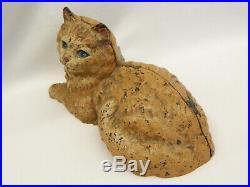 Original Antique Hubley Cat Cast Iron Doorstop