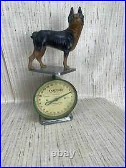 Original Antique Vintage Cast Iron Hubley Boston Terrier Door Stop Ships Fast