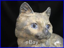 Original Condition Hubley Marked #302 Persian Cat Cast Iron Doorstop