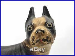 Original Hubley Boston Terrier Dog Cast Iron Doorstop