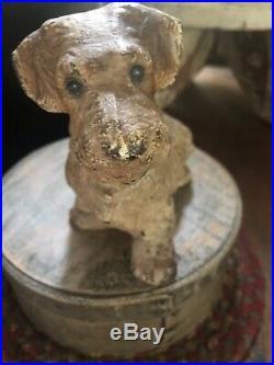Original Sealyham Dog Hubley Cast Iron Doorstop