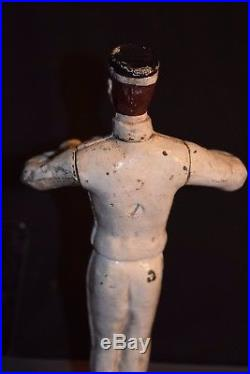 Original Vintage Coca-Cola Cast Iron Waiter Bellhop Doorstop 8.5 estate find