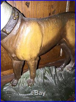 PREMIUM! ANTIQUE BRADLEY HUBBARD CAST IRON BOSTON TERRIER DOG HOME DOORSTOP