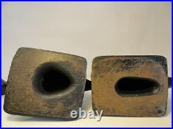 Pair of Cast Iron Duck Door Stops Antique Virginia Metalcrafters ZD6-1