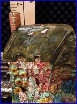 Pristine! Rare Antique Ann Hathaway Cottage House Cast Iron Hubley #438 Doorstop